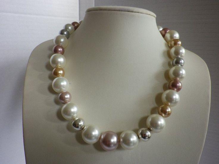 Perlenketten - Perlencollier Broklyn - ein Designerstück von sibea bei DaWanda