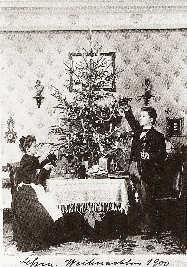 vintage everyday: One Couple Takes the Same Christmas Portraits for 40 Years from 1900 – 1942
