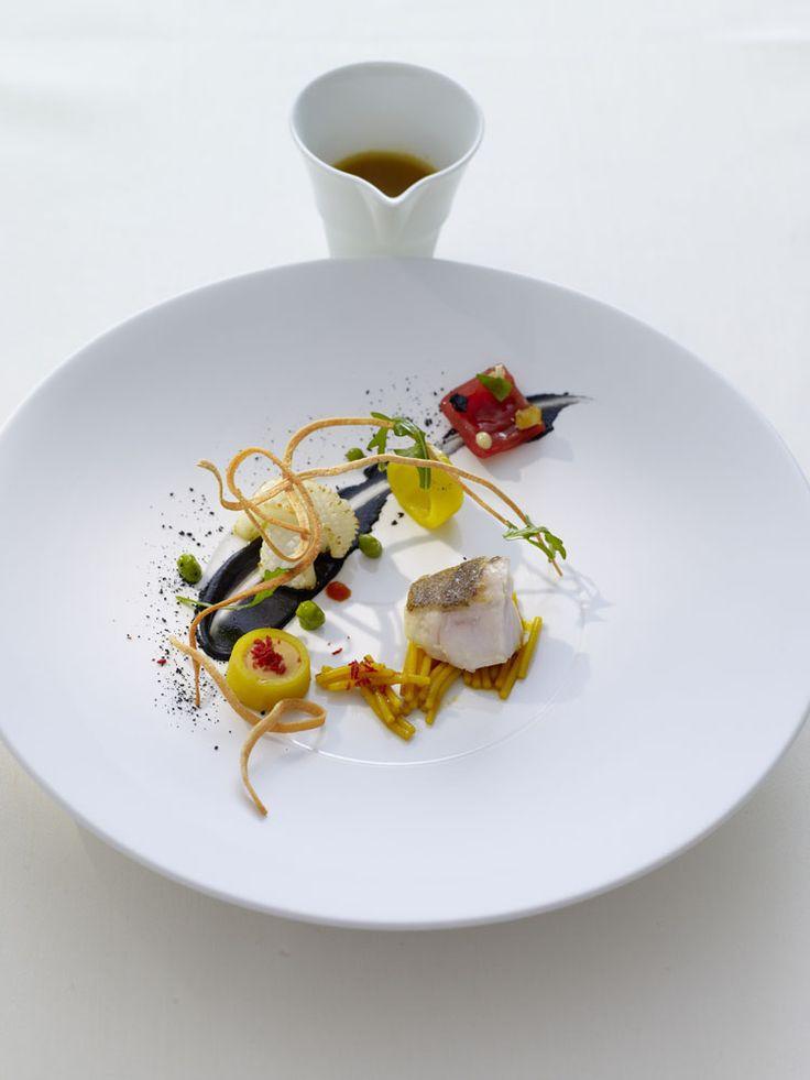 Bouillabaisse (Thomas Bühner)---that is the most beautiful bouillabaisse I've ever seen!