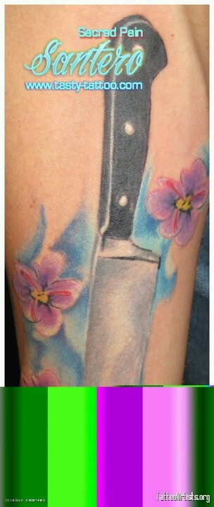 46 best tattoos images on pinterest for Butcher knife tattoo