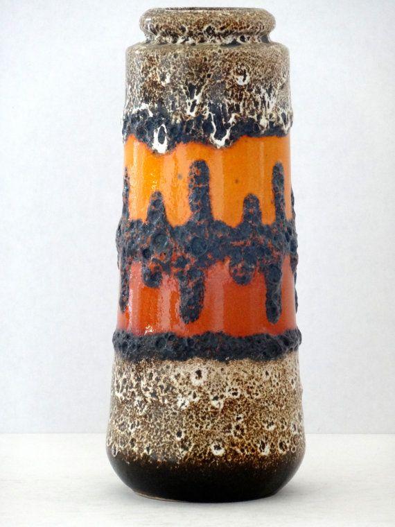 Scheurich Mid Century West German Fat Lava Cylinder by PasterCorte, $95.00