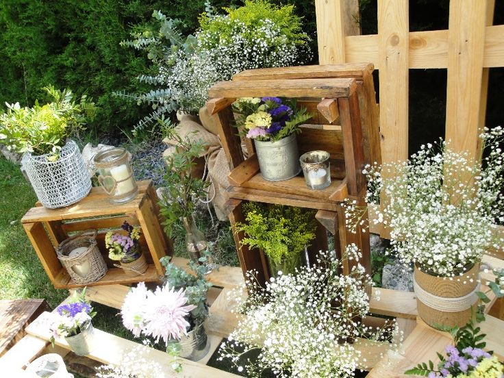 cajas de madera para decorar tu boda rustic wedding
