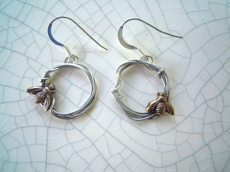 xuella arnold jewellery Woodland Bee Earrings