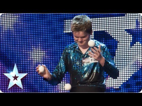 Thomas Bounce juggles and dazzles   Week 4 Auditions   Britain's Got Tal...