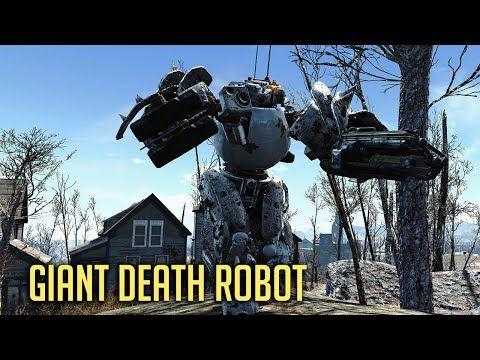 GIANT DEATH ROBOT! Fallout 4 - New Automatron DLC - YouTube
