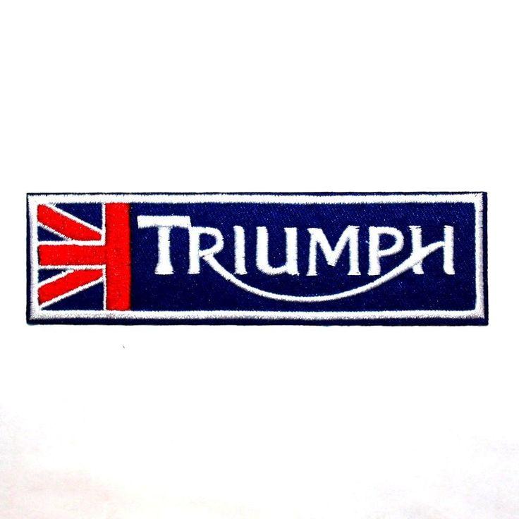 TRIUMPH British England Big Bike Motorcycle Jacket Cap Flag Jacket Iron on Patch #EmbroideredAppliqueMotifSewIrononpatch