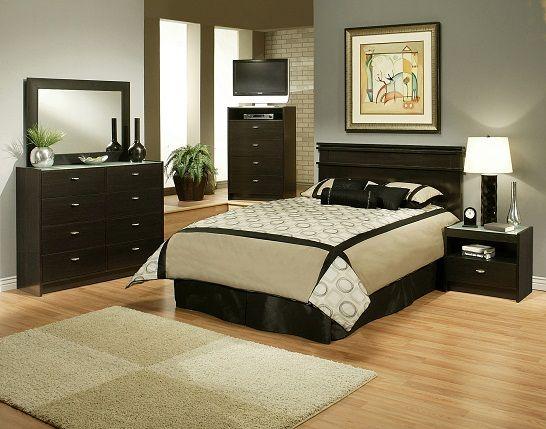 sandberg furniture times square king bedroom set in oak grain espresso