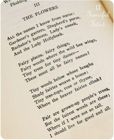 The Flowers, Robert Louis Stevenson