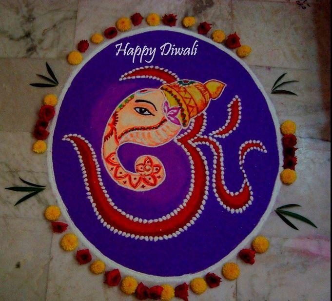 Ganesh Rangoli Designs | Rangoli | Pinterest | Rangoli ...