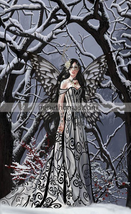 "Aveliad: Heart of Ice (17 "" x 28 "" © 2015)   Aveliad: Heart of Ice is a signed and numbered print, limited edition of 100. Nene is planning on a variant version of Aveliad: Heart of Ice after she finishes all of the illustrations for Book Four: Tyro.  ..."