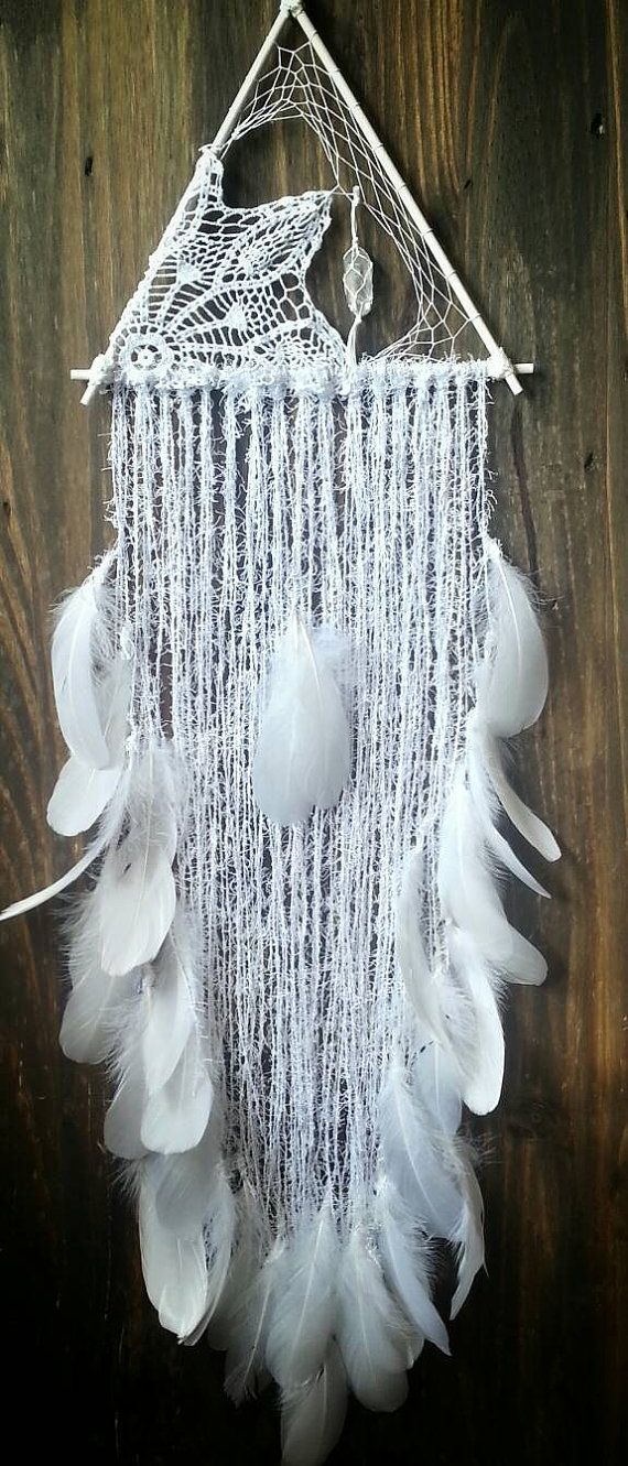 Lumos Dream catcher  white dreamcatcher  by BohemianDreamweaver