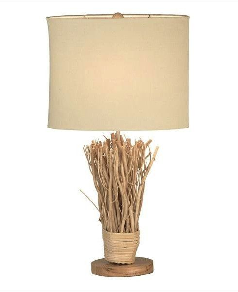 Bring the outdoor indoors and decorate your home with this stylish rustic table lamp with a twig design base.
