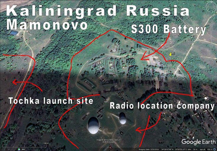 Kaliningrad Russia Mamonovo area has a lot military stuff. Big vehicle depot near (Iskanders, tanks etc?). Right on Polish border.