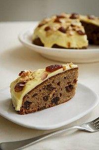 Date & Banana Cake with Orange Icing.