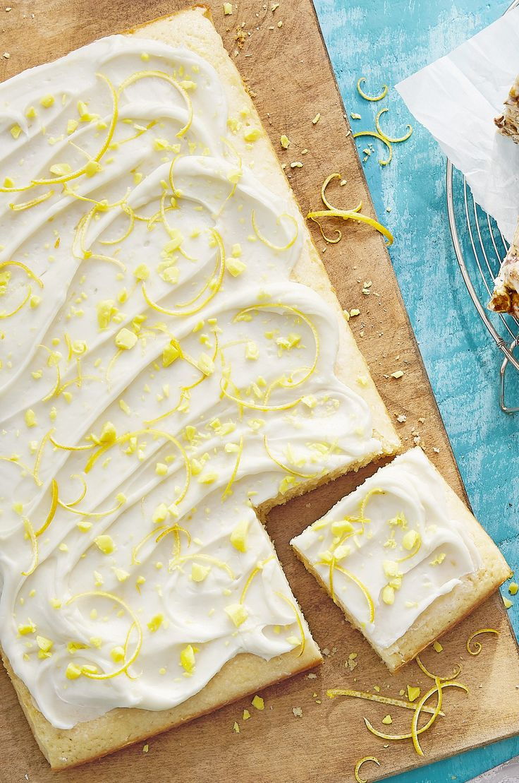 Topped with a lemony cream cheese frosting, this citrusy cake is the perfect balance between tangy and sweet.