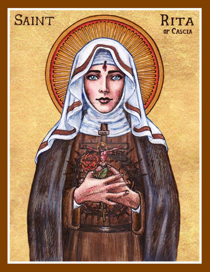 St. Rita of Cascia icon by Theophilia.deviantart.com on @deviantART