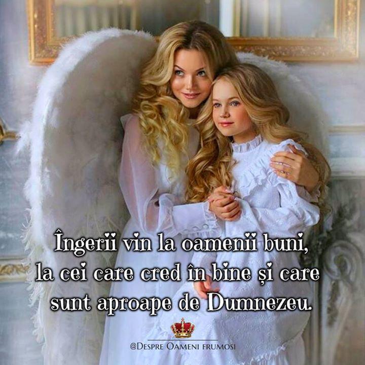 """""""Îngerii vin la oamenii buni la cei care cred în bine și care sunt aproape de Dumnezeu.  Miracolele pot veni doar la cei care cred în ele.  Pentru ca miracolul pornește din noi ca un semnal către Univers care se reîntoarce cu răspunsuri.""""  O zi și o Viata minunată prieteni... plina de Iubire... Trăire... și de #oamenifrumosi _____________ The most beautiful posts   Despre Oameni frumosi  - pagina ta de frumos   http://ift.tt/2xyywKb  - o arhiva cu peste 300 de postari..."""