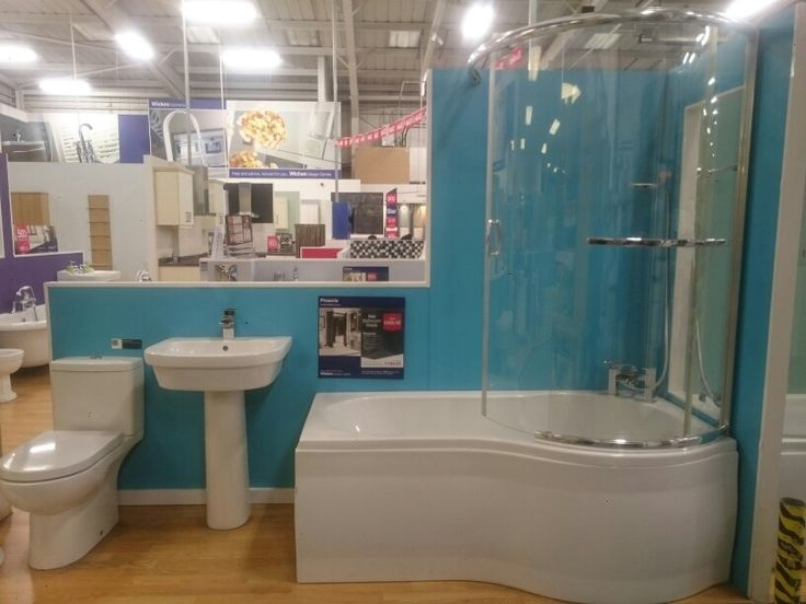 Wicks - phoenix With movable showers guard £799 with bath, shower screen, basin, toilet, taps