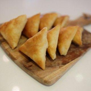 Tiropites: Filo pastry cheese triangles WWW.EFFIGEORGIA.COM.AU