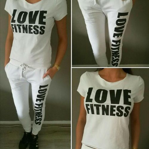 Sportset Huispak Love Fitness Wit