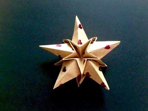 折り紙 クリスマス 星 - YouTube