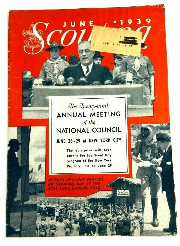 Scouting Magazine June 1939 Vintage Fdr Cover Boy Scouts Roosevelt Annual Meet In 2020 Vintage Boy Scouts Cover Boy Boy Scouts