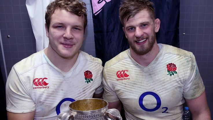 Joe Launchbury and George Kruis