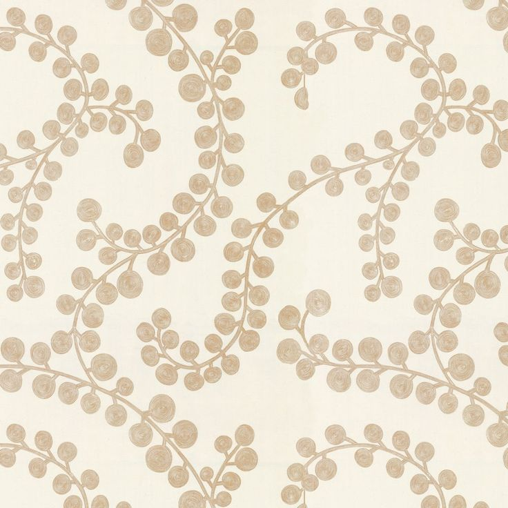 Metallic Gold Swirl Branch Cotton Fabric | Goldilocks Gilt | Loom Decor