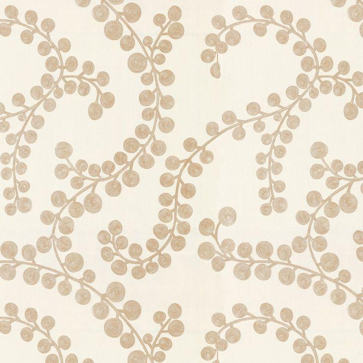 Metallic Gold Swirl Branch Cotton Fabric   Goldilocks Gilt   Loom Decor