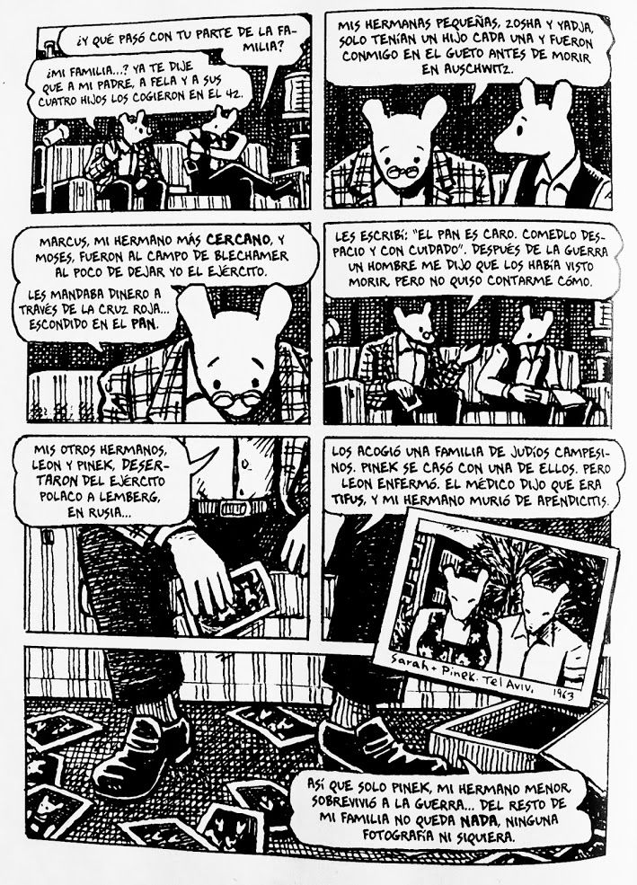 essay on maus art spiegelman Write an essay in which you compare art spiegelman's maus to a more traditionally formatted story assigned for this class or a comic book you are familiar with.