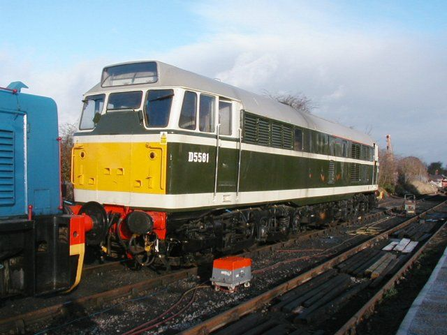 Newly arrived D5581 at Chinnor. 22/12/02  Photo courtesy of Eric Samuel