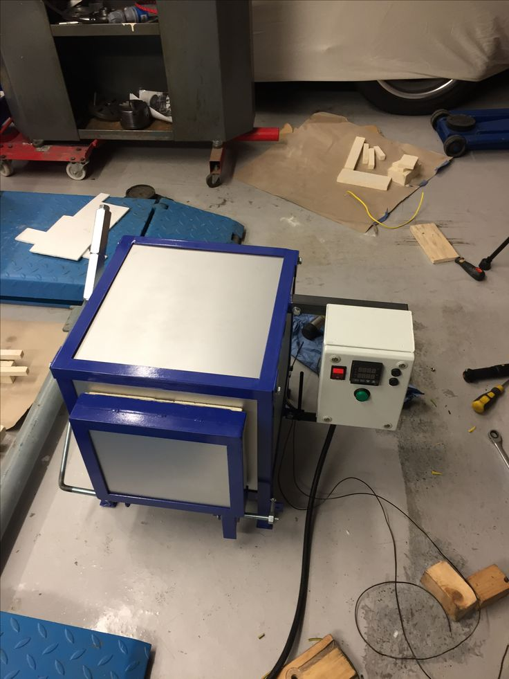 I made this heat treating oven for hardening steel.