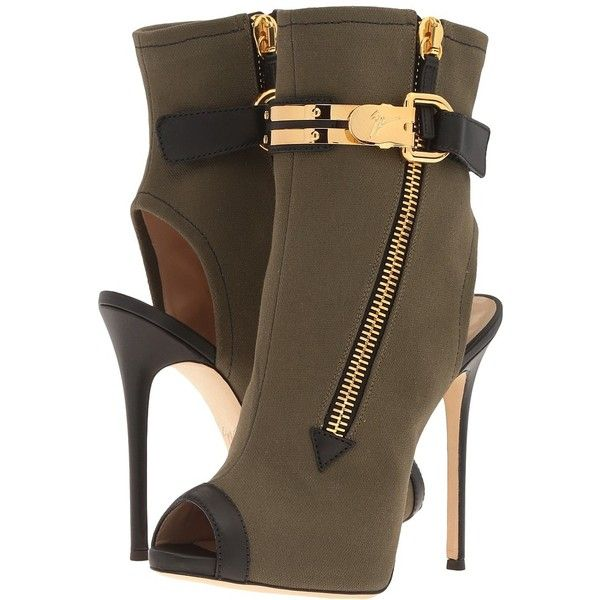 Giuseppe Zanotti E77019 (Raptor Caky) Women's Shoes ($1,250) ❤ liked on Polyvore featuring shoes, boots, ankle booties, ankle boots, peep toe bootie, stiletto ankle boots, peep toe ankle boots and stiletto booties