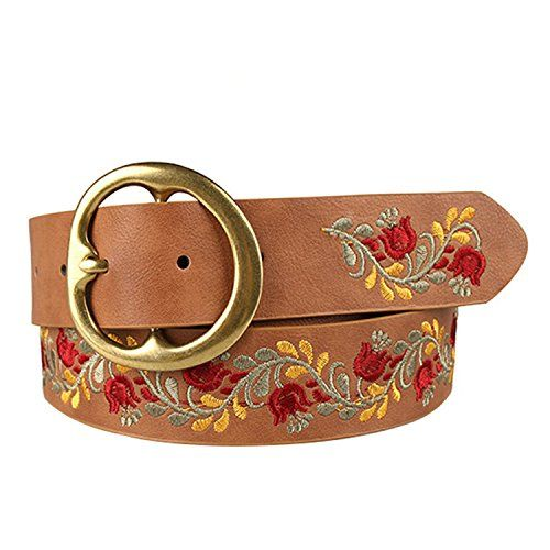 Kaured Stylish Pin Buckle Women Belt Leather Thin Female Ladies Belts For Jeans