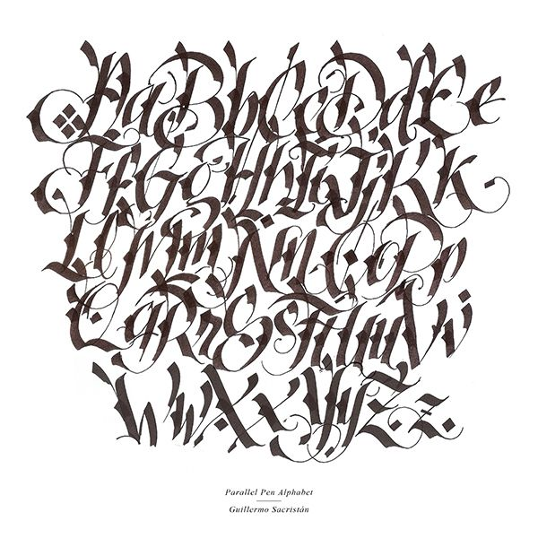 Calligraphy Alphabet Fonts Pictures To Pin On Pinterest