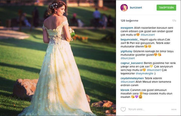 Nişanında sarı renkteki DreamON Özel Tasarım nişan kıyafetiyle göz kamaştıran Burcu Özsert ve Selim Bağcı'ya mutluluklar dileriz. www.dreamon.com.tr  #dreamon #gelinlik #bridals #fairytale #koleksiyon #gelinlikmodelleri #tasarım #mağaza #gown #wedding #abiye #dreamongelini #abiyemodelleri #happiness #mutluluk #nisanlık #happy #kına #couture #gaziantep