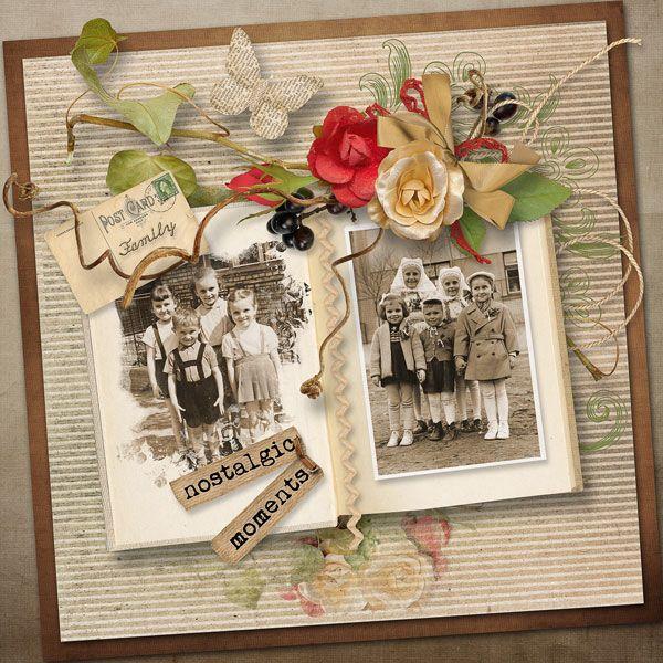 "March Challenge & Open Book FREEBIE Palvinka Designs   http://palvinka.blogspot.cz/  kit ""Memories Live Forever"" by Palvinka Designs     http://www.thedigichick.com/shop/Memories-Live-Forever-Collection.html"