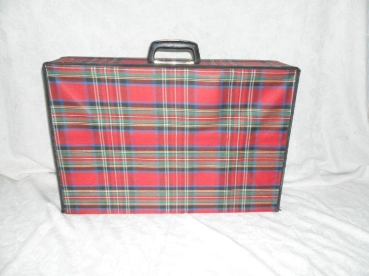 De opvouwbare koffer: de mijne was groen (en ik heb hem nóg...)