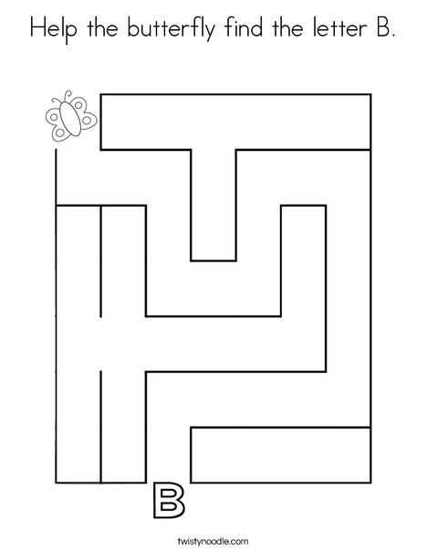 Help the butterfly find the letter B Coloring Page ...