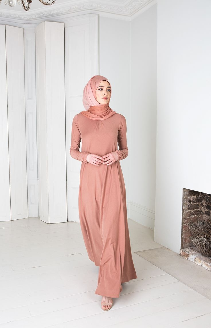 Mulberry Abaya - Tea Pink