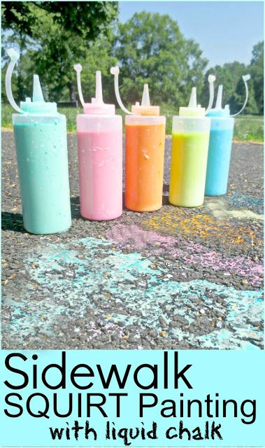 Sidewalk Squirty Paint- an easy recipe that is tons of fun!