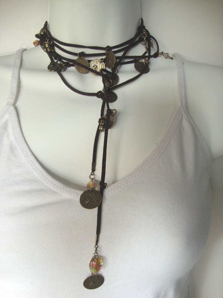 COLLAR CUERO Y PIEDRAS: Ideas For, Leather, Collares Favoritos, Collares Cuero, Greta Yanci, Brown Accesorios, Necklaces, Leather Chains
