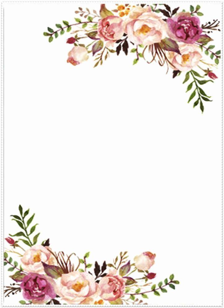 Floral Wedding Invitation Template Elegant Novos Cartoes 02 Pinterest Flower Invitation Floral Wedding Invitations Flower Border Clipart
