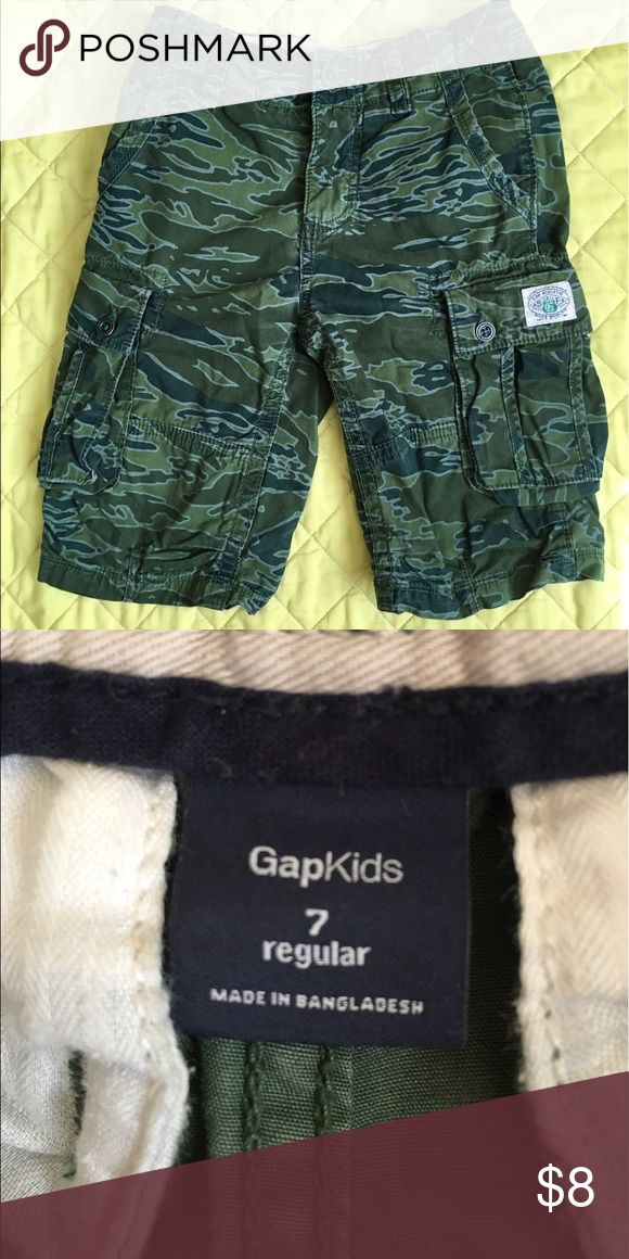 Gap camouflage shorts Great condition my son just grew out of them cute cargo gap shorts GAP Bottoms Shorts