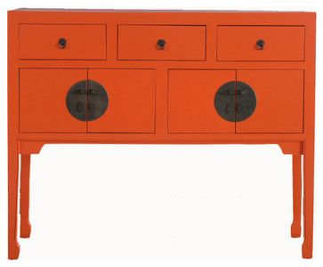 Double Happiness Tall Sideboard - asian - buffets and sideboards - - by Cottage & Bungalow