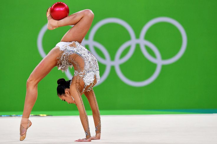 Son Yeon-jae of South Korea during qualifying competition in rhythmic gymnastics individual all-around. Rio.