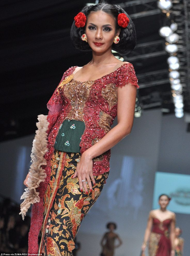 Her designs were bejewelled or created from satin to really pack a punch on the runway