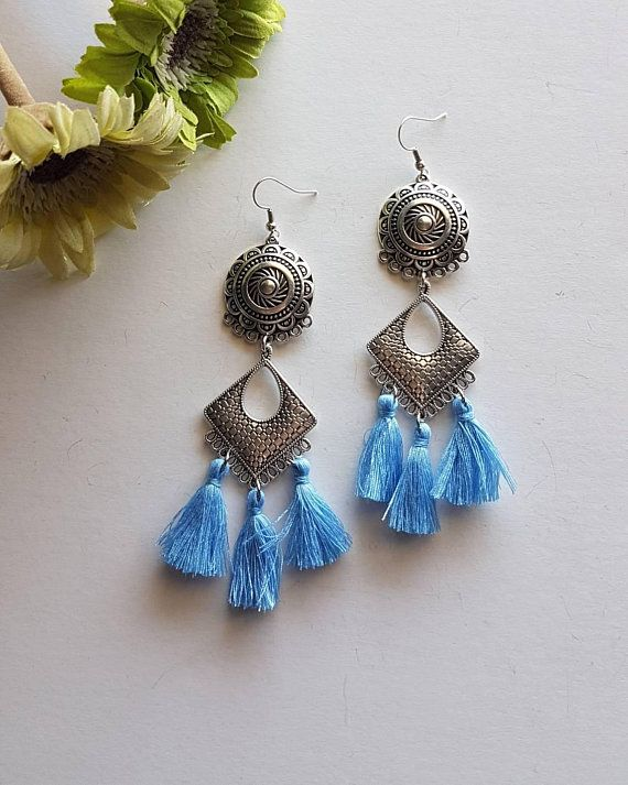 Check out this item in my Etsy shop https://www.etsy.com/listing/595540954/handmade-earrings-with-tassels-boho
