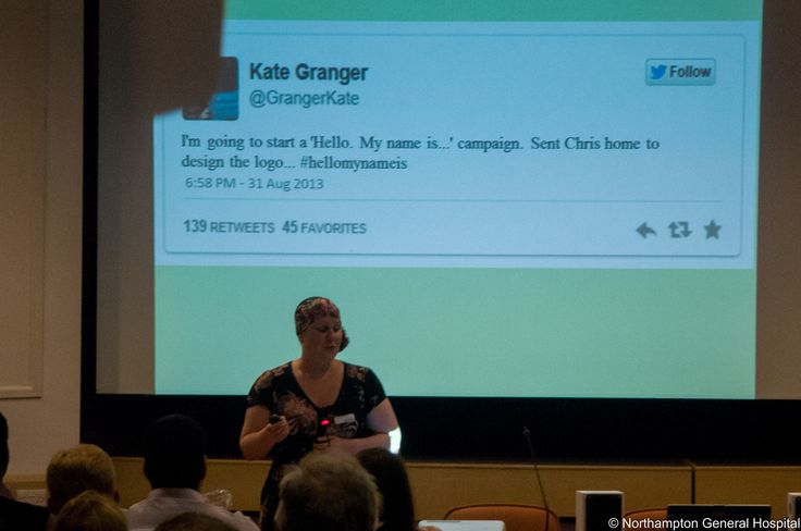 Kate Granger founder of the #hellomynameis campaign visits Northampton General Hospital June 2015 http://hellomynameis.org.uk http://www.northamptongeneral.nhs.uk