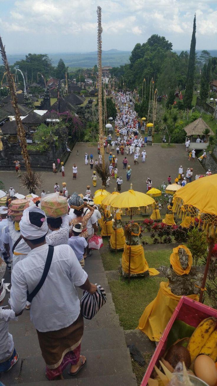 Exiting Besakih Temple at Odalan